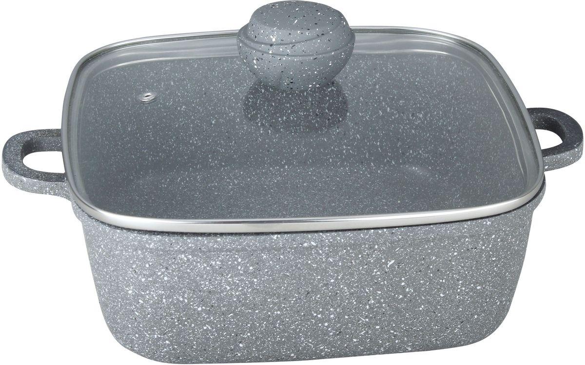 Кастрюля Bekker Silver Marble. BK-3809, 3.9 л, квадратBK-38093,9 л. Кастрюля квадратная со стеклянной крышкой. Толщина стенки 2,0 мм, дна 4,5 мм, размеры 24х24х9 см. Внутри антипригарное серое мраморное покрытие, снаружи жаропрочное серое мраморное покрытие. Ручка крышки с покрытием Soft touch. Ручки кастрюли из литого алюминия. Подходит для индукц.плит и чистки в посудомоечной машине. Состав: литой алюминий.