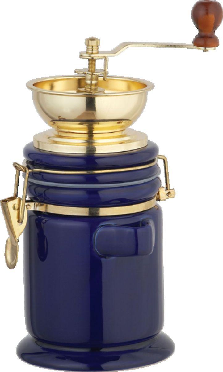 Порадуйте себя кофе, созданным своими руками. Корпус кофемолки керамический, воронка металлическая, под золото. У кофемолки керамический  механизм, регулировка помола.