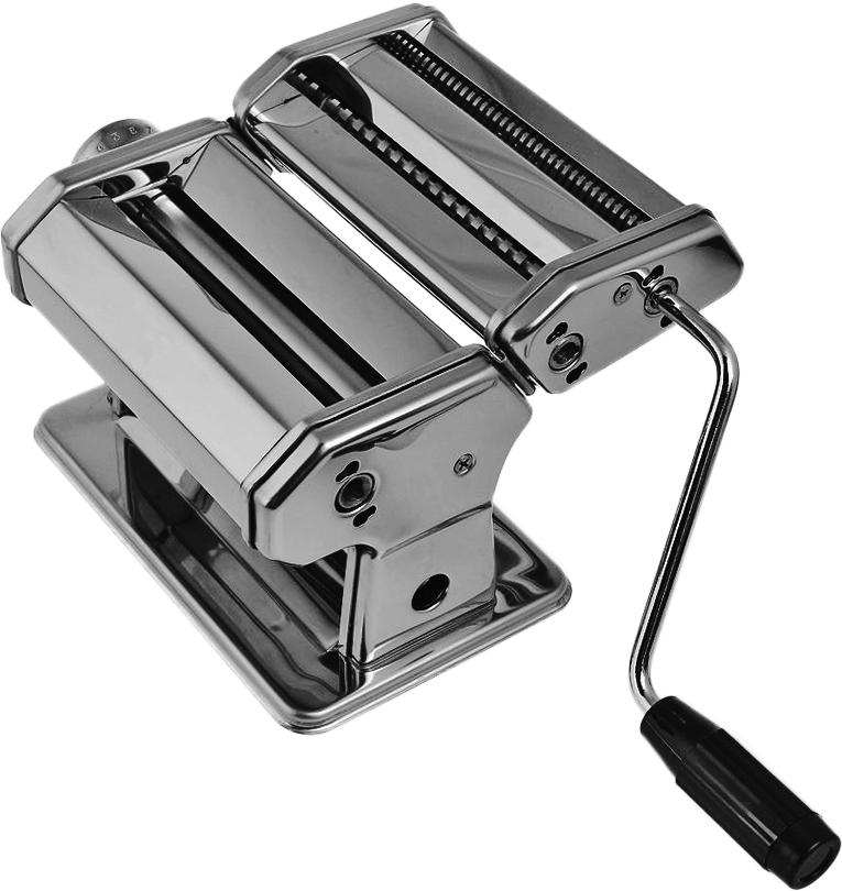 Лапшерезка ручная Bekker BK-5201BK-5201Ручная лапшерезка Bekker BK-5201 изготовлена из высококачественнойнержавеющей стали с зеркальной полировкой. Изделие прекрасно подходит дляраскатки теста для лазаньи, домашней лапши или пасты. Лапшерезка оснащенаваликом для раскатки теста. В комплекте - насадка для приготовления пасты.Принцип работы лапшерезки очень прост: вращая рукоятку, вы запускаете валики,которые позволяют раскатать идеально тонкое тесто, с помощью ручкираскатанное тесто также можно разрезать на узкие или широкие полоски. Дляудобства использования ручка оснащена пластиковой вставкой.Размерлапшерезки: 20,5 х 19,5 х 15 см.Ширина спагетти: 1,5 мм; 6,6 мм.