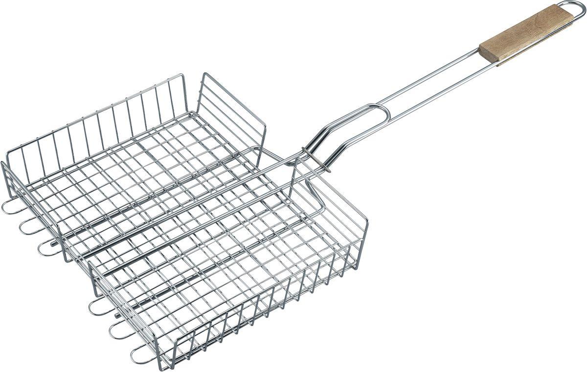 Решетка для барбекю Bekker BK-3080(20)BK-3080(20)решетка 68 х (30.5 х 24.5) х 5.5 см. Состав: сталь, ручка деревянная. Вес 750 г.