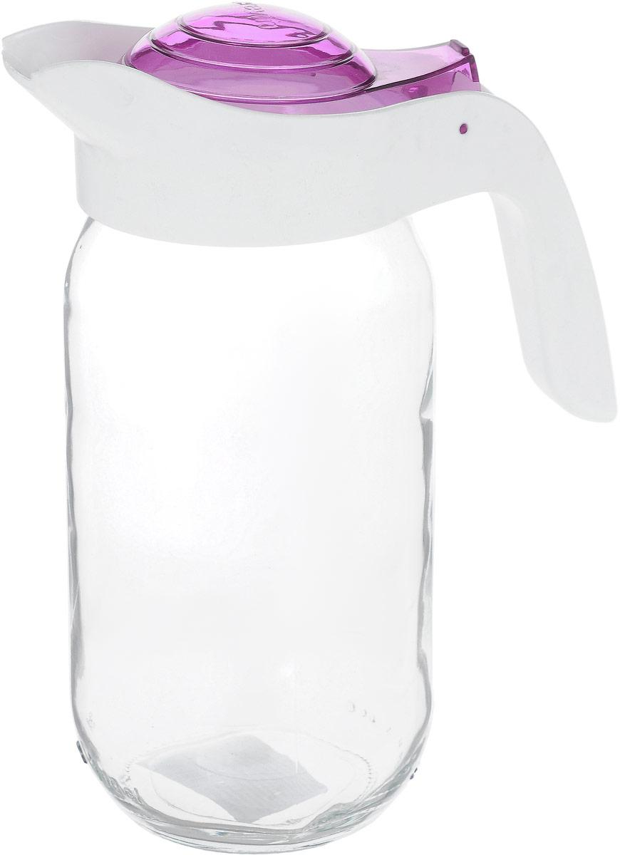 Кувшин Herevin, цвет: белый, сиреневый, прозрачный, 1 л. 111271-003111271-003_белый, сиреневый, прозрачныйКувшин Herevin, выполненный из высококачественного прочного стекла, элегантно украсит стол. Кувшин оснащен удобной ручкой и откидной пластиковой крышкой. Кувшин прост в использовании, достаточно просто наклонить его и налить ваш любимый напиток. Форма крышки обеспечивает наливание жидкости без расплескивания. Изделие прекрасно подойдет для подачи воды, сока, компота и других напитков. Диаметр (по верхнему краю): 7,5 см.Высота кувшина (без учета крышки): 18 см.
