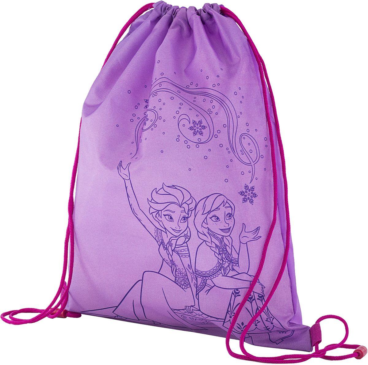 Disney Frozen Сумка для сменной обуви FZEB-MT2-883FZEB-MT2-883Сумка-мешок для сменной обуви Disney Frozen станет удобным помощником в школьной и спортивной жизни ребенка, а любимые герои будут долго радовать его. Изделие подойдет как для хранения, так и для переноски сменной обуви и одежды любого размера.Сумка выполнена из прочного водостойкого полиэстера и содержит одно вместительное отделение, затягивающееся с помощью текстильных шнурков. Шнурки фиксируются в нижней части сумки, благодаря чему ее можно носить за спиной как рюкзак.