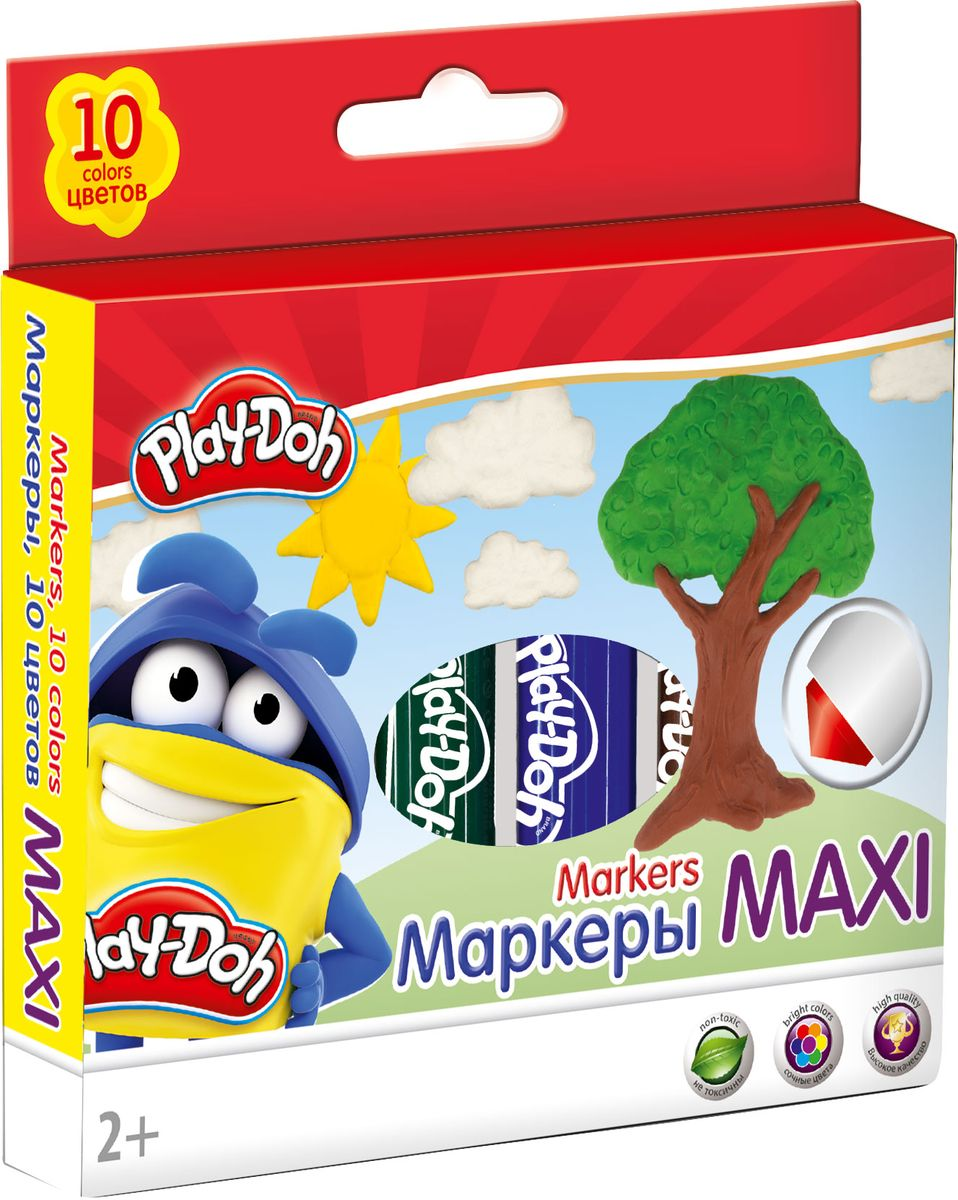 Play-Doh Набор фломастеров Mega Jumbo 10 шт PDEB-US1-14MB-10 play doh игровой набор магазинчик домашних питомцев