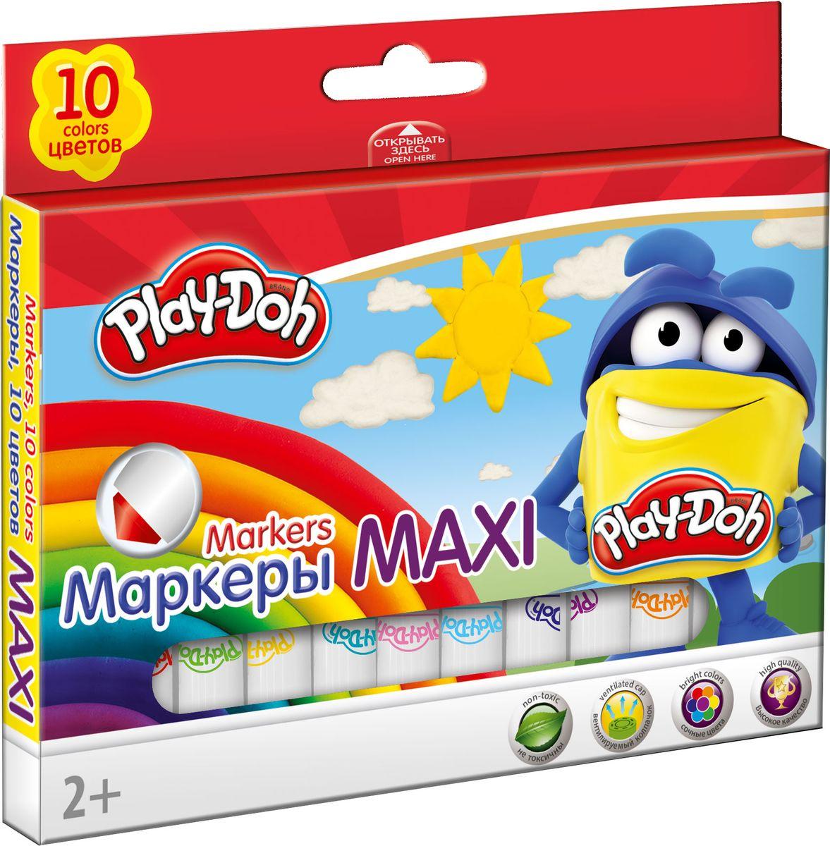 Play-Doh Набор толстых фломастеров Mega Jumbo 10 цветовPDEB-US1-7MB-10Набор фломастеров, Mega JUMBO, укороченные, 10 шт/10 цветов. Толщина стержня 7,5 мм. Высококачественный нетоксичный пластик, нейлоновый стержень, прочный утолщенный наконечник, сочные цвета, увеличенное содержание чернил, улучшенный пишущий узел. Утолщенная форма корпуса прививает навык правильно держать пишущий инструмент. Набор упакован в картонную коробку в европодвесом. Размер 10,5 х 15,5 х 1,5 см.