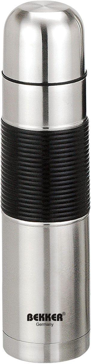 Термос Bekker BK-73, металлический, 0.5 лBK-73 (30)0,5 л ( для горячих и холодных напитков), крышка-чашка, вакуумная кнопка, корпус с защитной силик. оболочкой. Состав: нержавеющая сталь.