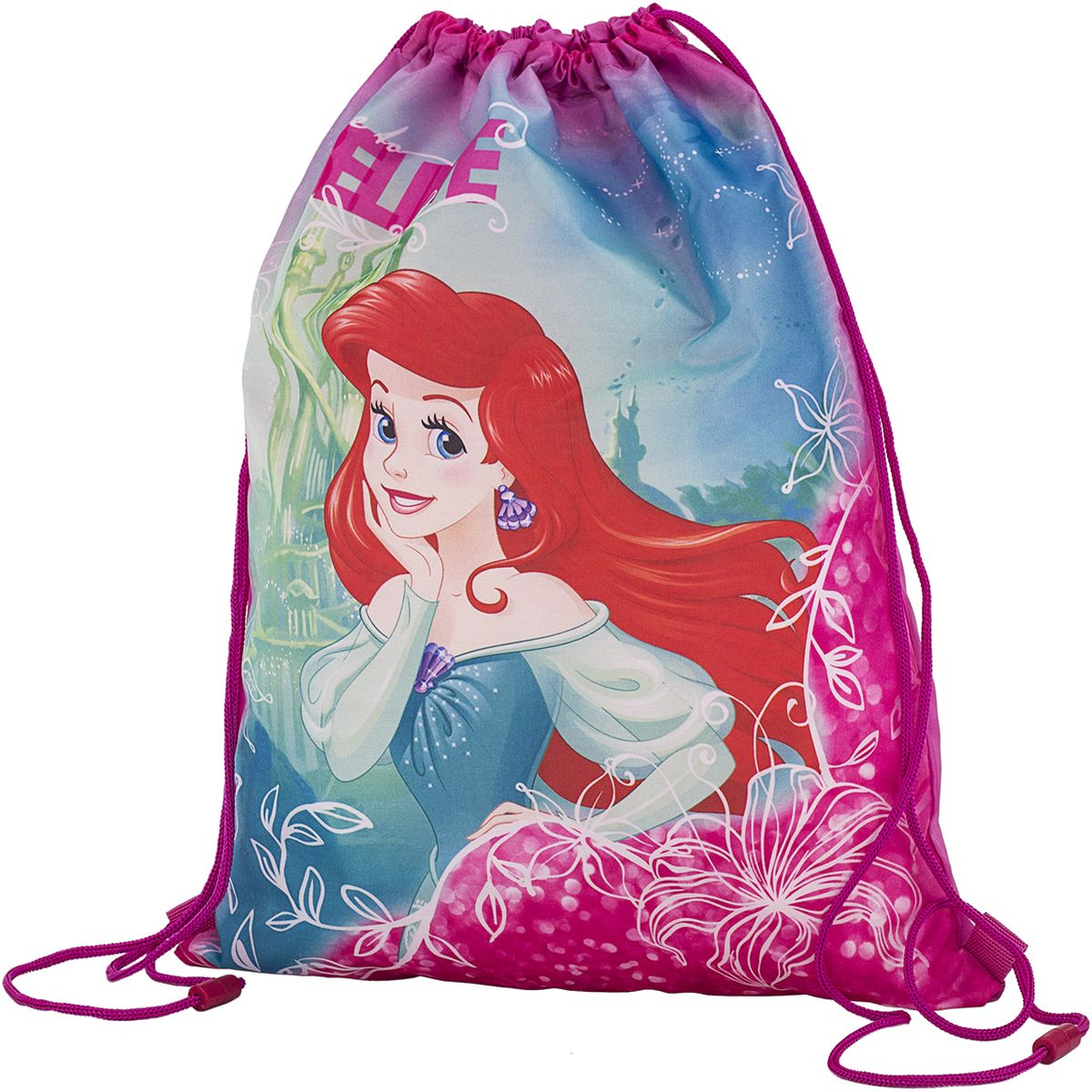 Disney Princess Сумка для сменной обуви АриэльPREB-MT1-883Сумка-мешок для сменной обуви Disney Princess Ариэль станет удобным помощником в школьной и спортивной жизни ребенка, а любимые герои будут долго радовать его. Изделие подойдет как для хранения, так и для переноски сменной обуви и одежды любого размера.Сумка выполнена из прочного водостойкого полиэстера и содержит одно вместительное отделение, затягивающееся с помощью текстильных шнурков. Шнурки фиксируются в нижней части сумки, благодаря чему ее можно носить за спиной как рюкзак.