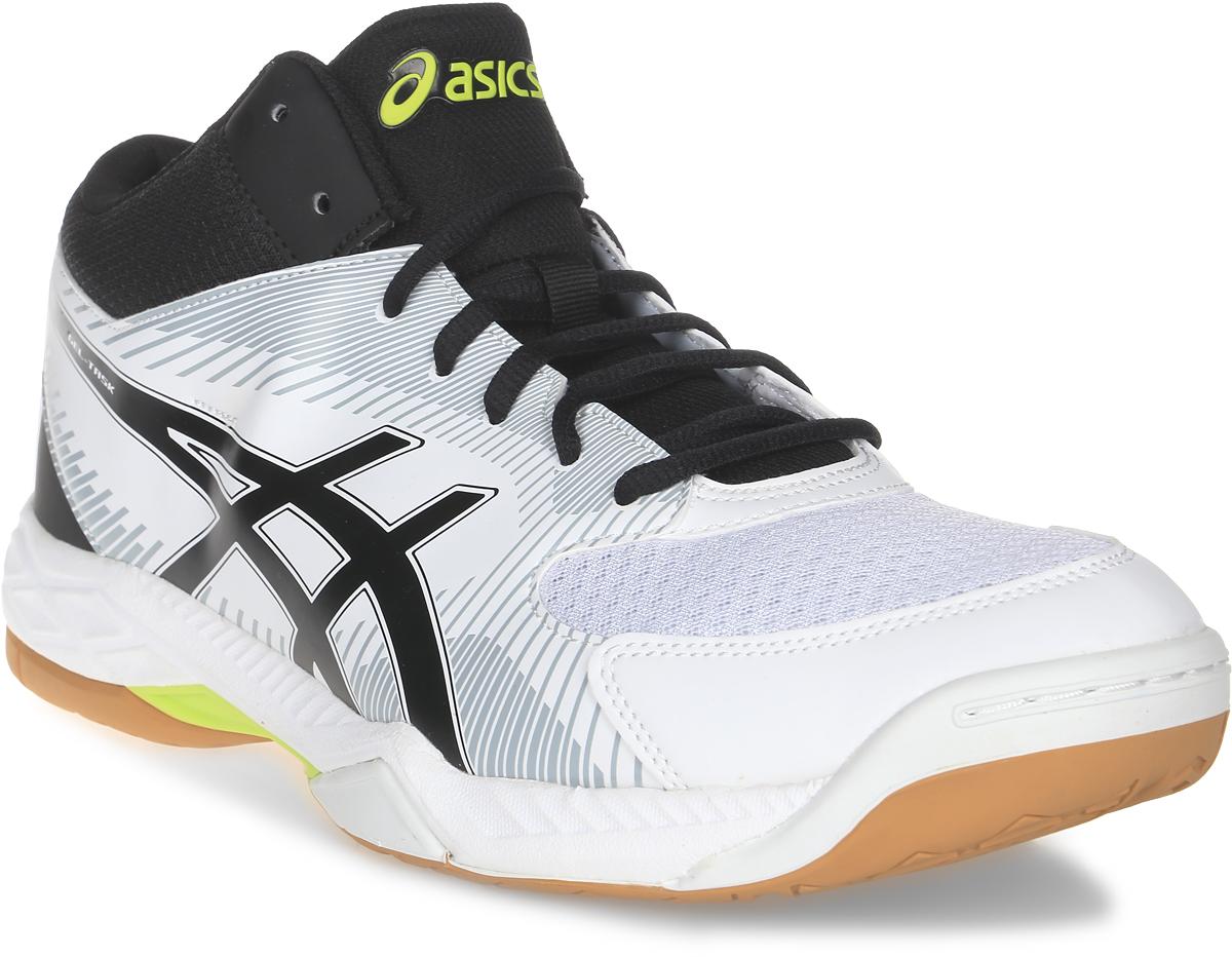 Кроссовки мужские Asics Gel-Task Mt, цвет: белый, черный. B703Y-0190. Размер 8 (40)B703Y-0190Стильные мужские кроссовки Gel-Task MT от Asics - эффектная, хорошо сбалансированная обувь для волейбола, в которой используются все знаменитые технологии Asics. Полувысокий вариант для большей поддержки стопы был разработан для игроков, для которых наиболее важным в обуви является гармоничное сочетание амортизации, комфорта и дизайна. Верх модели выполнен из дышащего текстиля, оформленного вставками из искусственной кожи и фирменными полосками бренда. Искусственная кожа устойчива к трению и разрывам. Дышащий материал обеспечивает легкость, комфорт и воздухопроницаемость. Asics-гель (специальный вид силикона) в носке поглощает удар, снижает нагрузку на пятку, колени и позвоночник спортсмена. Классическая шнуровка надежно фиксирует модель на стопе. Трасстик - литой элемент, расположенный под центральной частью подошвы, обеспечивает стабильность, легкость, предотвращает скручивание стопы. Подошва изготовлена из NC-резины, компоненты которой содержат больше натуральной резины, чем традиционной жесткой, что увеличивает сцепление на площадках. Колодка Калифорния - для стабильности и комфорта. Верх прострочен по кайме стельки EVA и напрямую закреплен на средней подошве. Стелька EVA с текстильной поверхностью обеспечивает превосходную амортизацию и комфорт. В таких кроссовках вашим ногам будет комфортно и уютно.