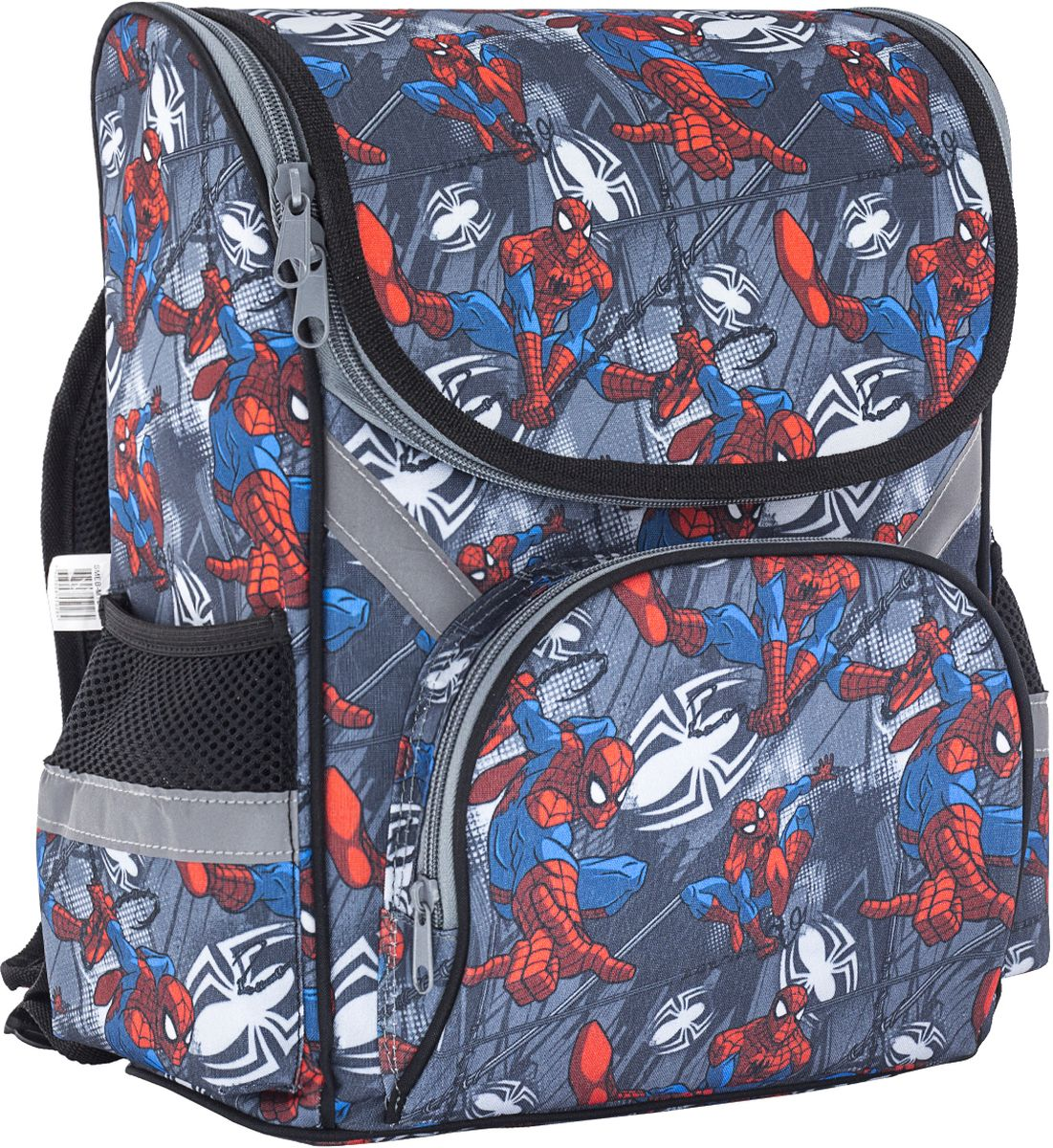 Spider-man Classic Ранец школьный SMEB-MT2-131SMEB-MT2-131Рюкзак. Спинка и дно усилены пластиковой вставкой. Внутри имеется вместительное отделение с одним разделителем, снаружи предусмотрены три кармана для аксессуаров. Лямки анатомической S-образной формы, свободно регулируются по длине, обеспечивая удобную посадку по фигуре; имеется ручка для ношения в руках. Размер 35 х 26,5 х 13 см.