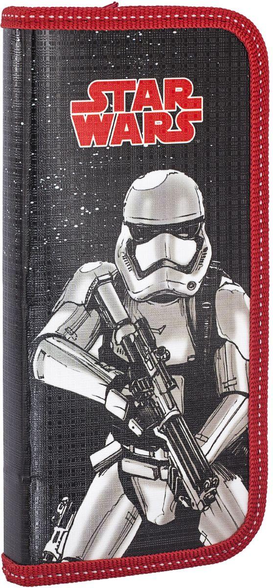 Star Wars Пенал SWEB-UT1-033PRSWEB-UT1-033PRПенал жесткий, ламинированный, прямоугольной формы выполнен из высококачественного текстиля и состоит из одного отделения на застежке-молнии. Внутри располагаются откидной клапан и органайзер для письменных принадлежностей.Такой пенал станет незаменимым помощником для школьника, с ним ручки и карандаши всегда будут под рукой и больше не потеряются.