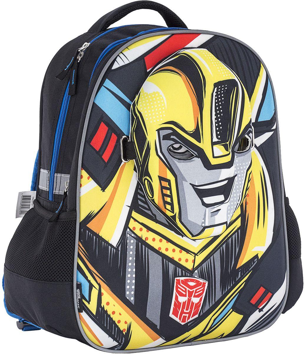Transformers Ранец школьный Prime TREB-MT1-157TREB-MT1-157Рюкзак мягкий, с двумя отделениями на молнии, по бокам карманы-сетки. Лямки S-образной формы свободно регулируются по длине. На передней панели 3D маска