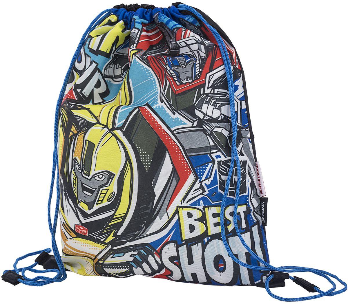 Transformers Сумка для сменной обуви Prime TREB-MT1-883TREB-MT1-883Мешок для переноски обуви, выполнен из плотного водостойкого материала, затягивается сверху шнуром-лямкой и носится, как рюкзак. Размер 43 х 34 х 1 см.