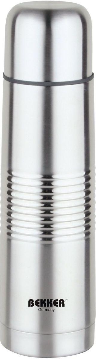 Термос Bekker BK-82, металлический, 0.75 лBK-82 (30)0,75 л ( для горячих и холодных напитков), крышка-чашка, вакуумная кнопка. Состав: нержавеющая сталь.