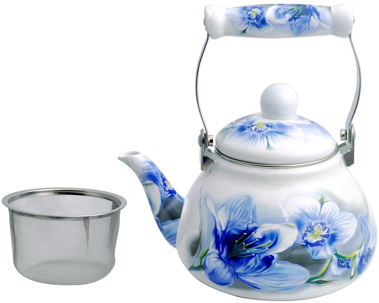 Чайник заварочный Winner, эмалированный, 1,2 лWR-5118 1,2л.Эмалированный заварочный чайник Winner выполнен из углеродистой стали. Чайник имеет сито из нержавеющей стали и съемную крышку. Подвижная ручка выполнена из керамики в комбинации с алюминием. Подходит для всех видов плит, в том числе индукционной. Рекомендована ручная чистка.