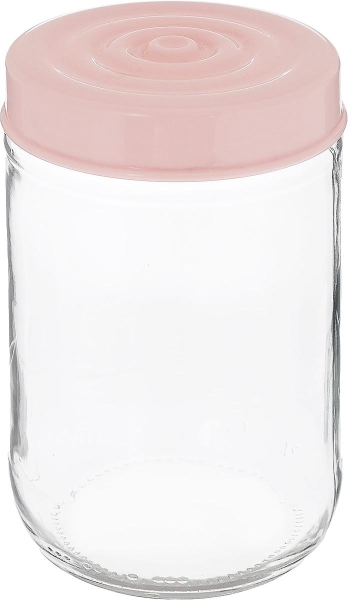 Банка для сыпучих продуктов Herevin, цвет: светло-розовый, прозрачный, 660 мл. 140367-500140367-500_светло-розовыйБанка для сыпучих продуктов Herevin выполнена из высококачественного прочного стекла. Изделие снабжено плотно закручивающейся пластиковой крышкой с рельефом. Прозрачные стенки позволяют видеть содержимое. Такая банка отлично подойдет для хранения различных сыпучих продуктов: орехов, сухофруктов, чая, кофе, специй. Диаметр банки: 8,5 см. Высота банки: 14 см.