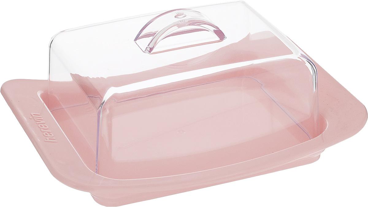 Масленка Herevin, цвет: светло-розовый, прозрачный. 161030-500161030-500_розовыйМасленка Herevin, выполненная из высококачественного пластика, предназначена для красивой сервировки и хранения масла. Она состоит из подноса и прозрачной крышки с ручкой. На подносе имеются специальные выемки, благодаря которым крышка легко на него устанавливается.Благодаря такой масленке ваше масло всегда будет свежим.
