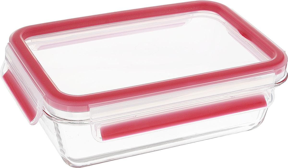 Контейнер прямоугольный Emsa Clip&Close Glas, цвет: красный, прозрачный, 700 мл516244Контейнер для хранения продуктов Emsa Clip&Close Glasявляется превосходным решением: он не только на 100%подходит для использования в духовке, но и для заморозки, атакже для приготовления и разогревания пищи вмикроволновке. Изделие оснащено герметичной крышкой назащелках, поэтому изделие также подходит для храненияжидкостей. При хранении или перевозке еды герметичность,гигиеничность и длительное сохранение свежести продуктовгарантированы на 100%. Перекладывать в сервировочнуюпосуду больше не нужно: симпатичную стеклянную чашуможно смело ставить на стол. Кроме того, контейнерподходит для хранения детской пищи.Можно использовать в духовке при температуре до +420°С,для разогрева в микроволновой печи при температуре до + 110°С, для заморозки при температуре до -40°С. Размер контейнера (без учета крышки): 19,5 х 13,5 х 6,3 см.