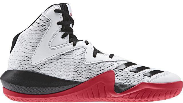 Кроссовки для баскетбола мужские Adidas Crazy Team 2017, цвет: белый, красный. BY4533. Размер 12,5 (46,5)BY4533Мужские кроссовки для баскетбола adidas Crazy Team 2017 выполнены из сетчатого текстиля и искусственной кожи. Модель оформлена фирменными накладками из полимера. Шнурки надежно зафиксируют модель на ноге. Внутренняя поверхность из сетчатого текстиля комфортна при движении. Стелька выполнена из легкого ЭВА-материала с поверхностью из текстиля. Подошва изготовлена из высококачественной резины и дополнена рельефным рисунком. Задняя часть подошвы оснащена вставкой из Adiprene, которая смягчает ударную нагрузку на стопу и обеспечивает дополнительную амортизацию.