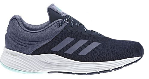 Кроссовки для бега женские Adidas Fluidcloud, цвет: темно-синий, фиолетовый. BB3334. Размер 6 (38)BB3334Мягкость и комфорт от старта до финиша на ежедневных пробежках. Женские беговые кроссовки Adidas Fluidcloud с промежуточной подошвой cloudfoam для адаптивной амортизации и с дышащим сетчатым верхом. Прочная подошва не теряет своих свойств в течение долгого времени.Тип поддержки стопы: нейтральный.Верх выполнен из крупной сетки для максимальной вентиляции. Люверсы анатомической формы для максимально естественных движений. Промежуточная подошва cloudfoam для поглощения ударных нагрузок и комфортной посадки без разнашивания; удобная и функциональная стелька OrthoLite с антимикробным покрытием.Расщепленная подошва для гибкости и независимого движения носка и пятки. Исключительно износостойкая подошва ADIWEAR.