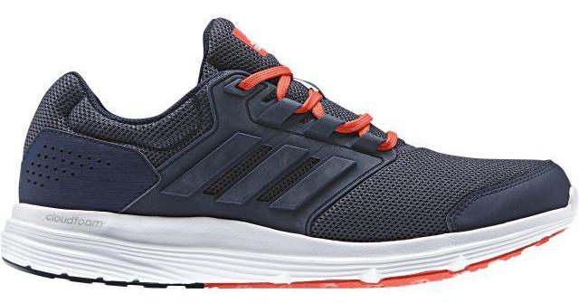 Кроссовки для бега мужские Adidas Galaxy 4 M, цвет: темно-синий. BY2860. Размер 9,5 (42,5)BY2860Удобные кроссовки для треккинга adidas Galaxy 4 с промежуточной подошвой CloudFoam для лучшей амортизации. Модель выполнена из сетчатого текстиля, оформлена фирменными нашивками из полимера и искусственной кожи. Шнурки надежно зафиксируют модель на ноге. Внутренняя поверхность из сетчатого текстиля комфортна при движении. Стелька выполнена из легкого ЭВА-материала с поверхностью из текстиля. Подошва изготовлена из высококачественной легкой резины. Поверхность подошвы дополнена рельефным рисунком.