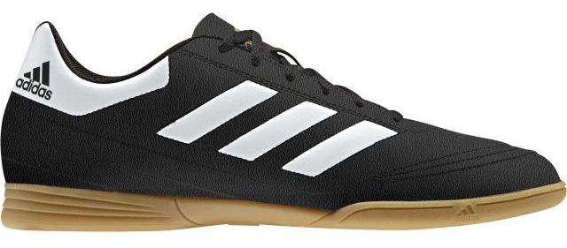 Кроссовки для футзала мужские Adidas Goletto Vi In, цвет: черный, белый. AQ4289. Размер 11,5 (45)AQ4289Кроссовки для зала от всемирно известного спортивного бренда adidas выполнены из качественного синтетического материала. Модель оформлена фирменными нашивками и надписями. Шнурки надежно зафиксируют модель на ноге. Внутренняя поверхность из текстиля комфортна при движении. Подошва изготовлена из высококачественной резины.
