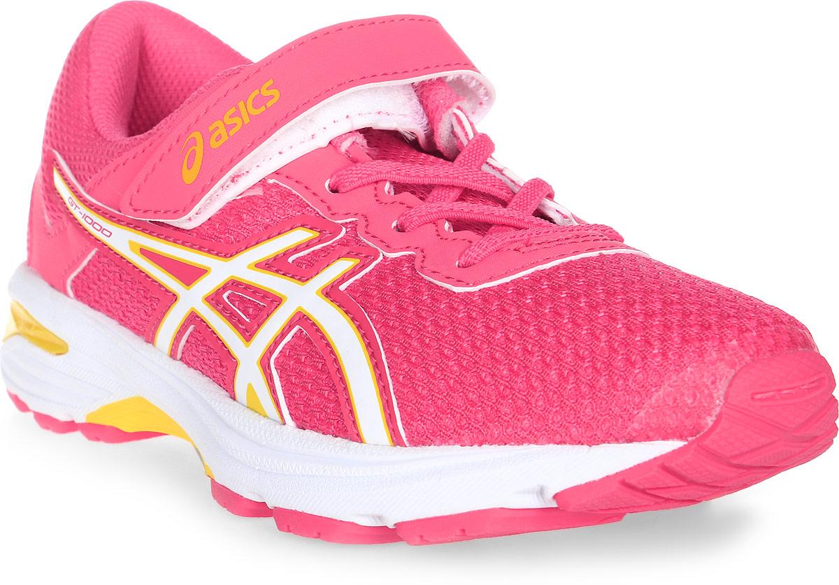 Кроссовки для девочки Asics Gt-1000 6 Ps, цвет: розовый. C741N-1901. Размер K12 (28,5)C741N-1901Легкие кроссовки для девочки Asics Gt-1000 6 Ps покорят вашего ребенка своим дизайном и функциональностью! Верх кроссовок выполнен из специальной дышащей сетки, которая обеспечивает оптимальный микроклимат внутри обуви. Промежуточная подошва из EVA и вставки Asics Gel в пяточной области обеспечивают превосходную поддержку и предохраняют ноги ребенка от усталости. В модели предусмотрена съемная стелька для простоты ухода и дополнительной амортизации. Светоотражающие элементы обеспечат безопасность в темное время суток.