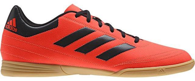 Кроссовки для футзала мужские Adidas Goletto Vi In, цвет: красный, черный. S77227. Размер 9,5 (42,5)S77227Кроссовки для зала от всемирно известного спортивного бренда adidas выполнены из качественного синтетического материала. Модель оформлена фирменными нашивками и надписями. Шнурки надежно зафиксируют модель на ноге. Внутренняя поверхность из текстиля комфортна при движении. Подошва изготовлена из высококачественной резины.