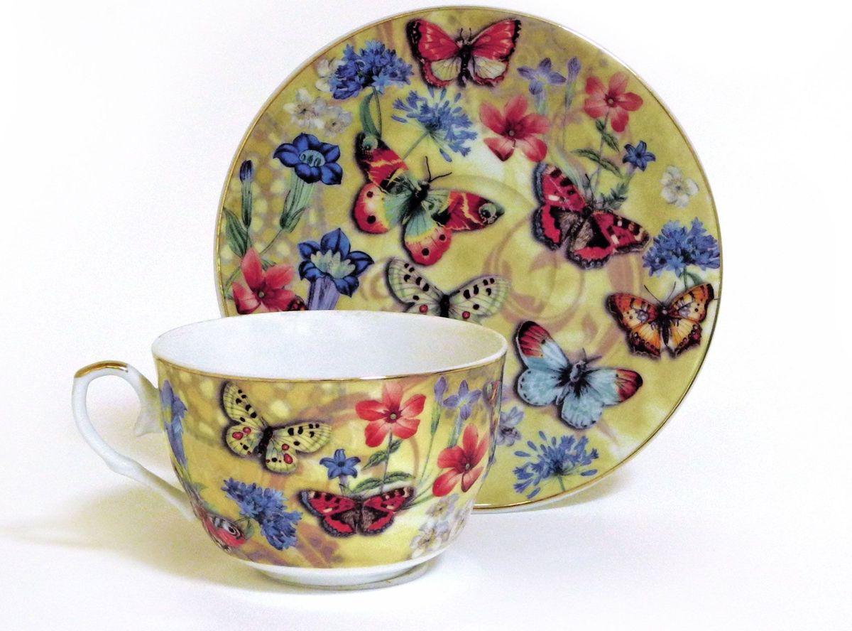 Набор чайный Briswild Бабочки и васильки, 2 предмета545-770Набор чайный Бабочки и васильки, выполненный из высококачественного фарфора белого цвета. На предметах набора изображены цветы и бабочки. Изящный дизайн оформления придется по вкусу и ценителям классики, и тем, кто предпочитает утонченность и изысканность. Такой набор отлично подойдет для красивой сервировки стола.