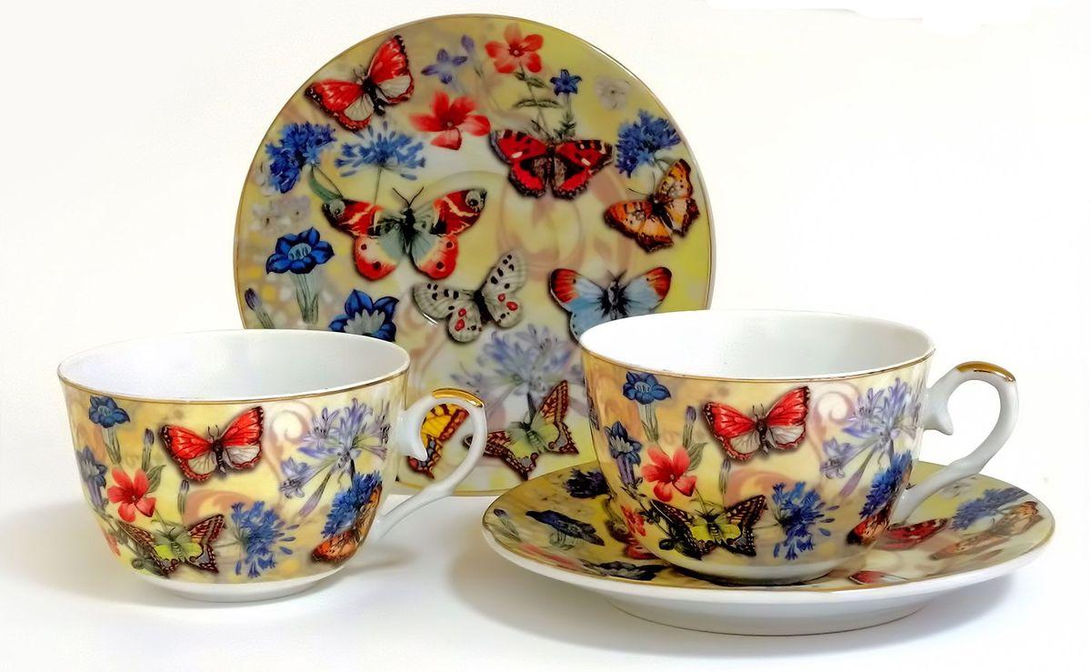 Набор чайный Briswild Бабочки и васильки, 4 предмета набор чайный briswild сесиль 12 предметов