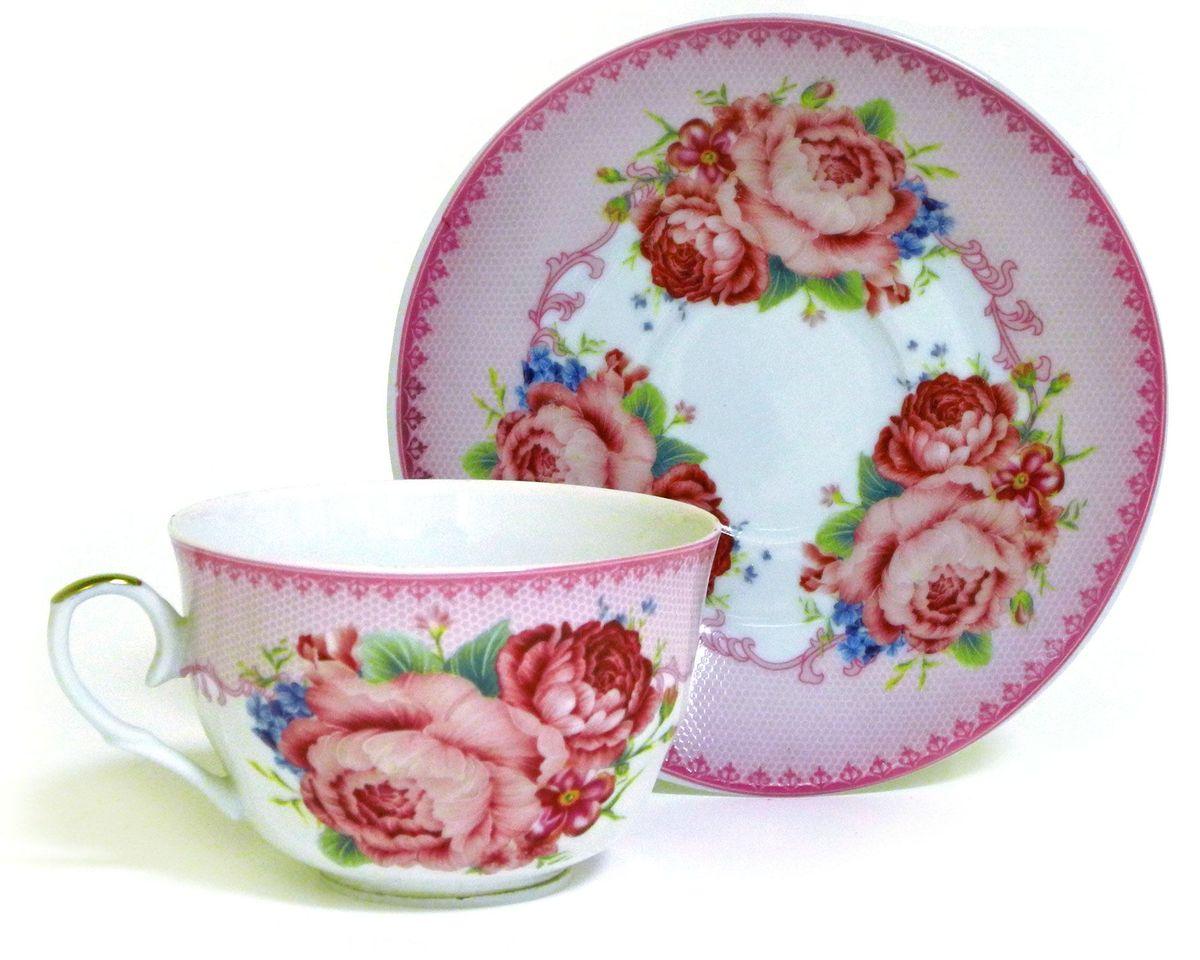 Набор чайный Briswild Амелия, 2 предмета26823Набор чайный Амелия, выполненный из высококачественного фарфора белого цвета, состоит из чашки и блюдца. На предметах набора изображены цветочные узоры. Изящный дизайн оформления придется по вкусу и ценителям классики, и тем, кто предпочитает утонченность иизысканность. Такой набор отлично подойдет для красивой сервировки стола.