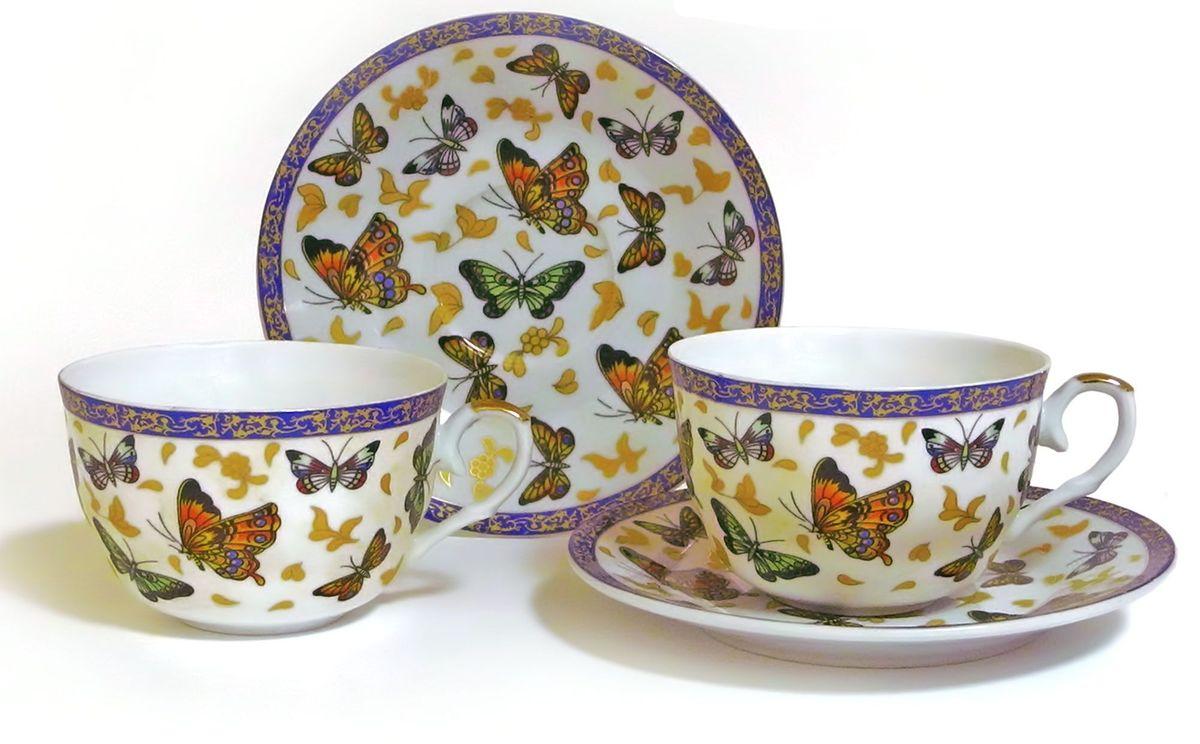 Набор чайный Briswild Полет бабочек, 4 предмета кружка заварочная briswild полет бабочек с ситом и ложкой 350 мл