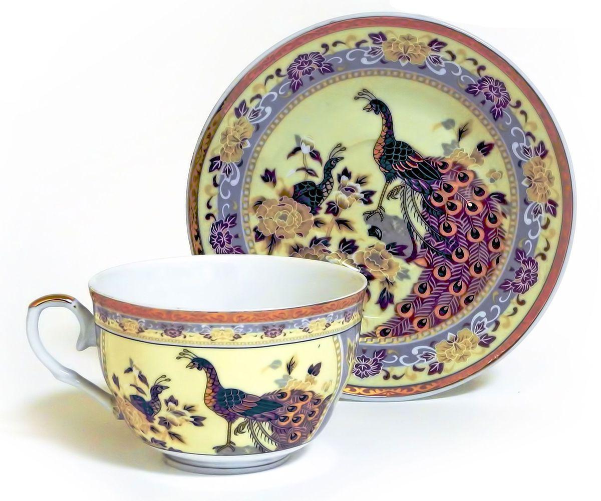 Набор чайный Briswild Павлин на бежевом, 2 предмета