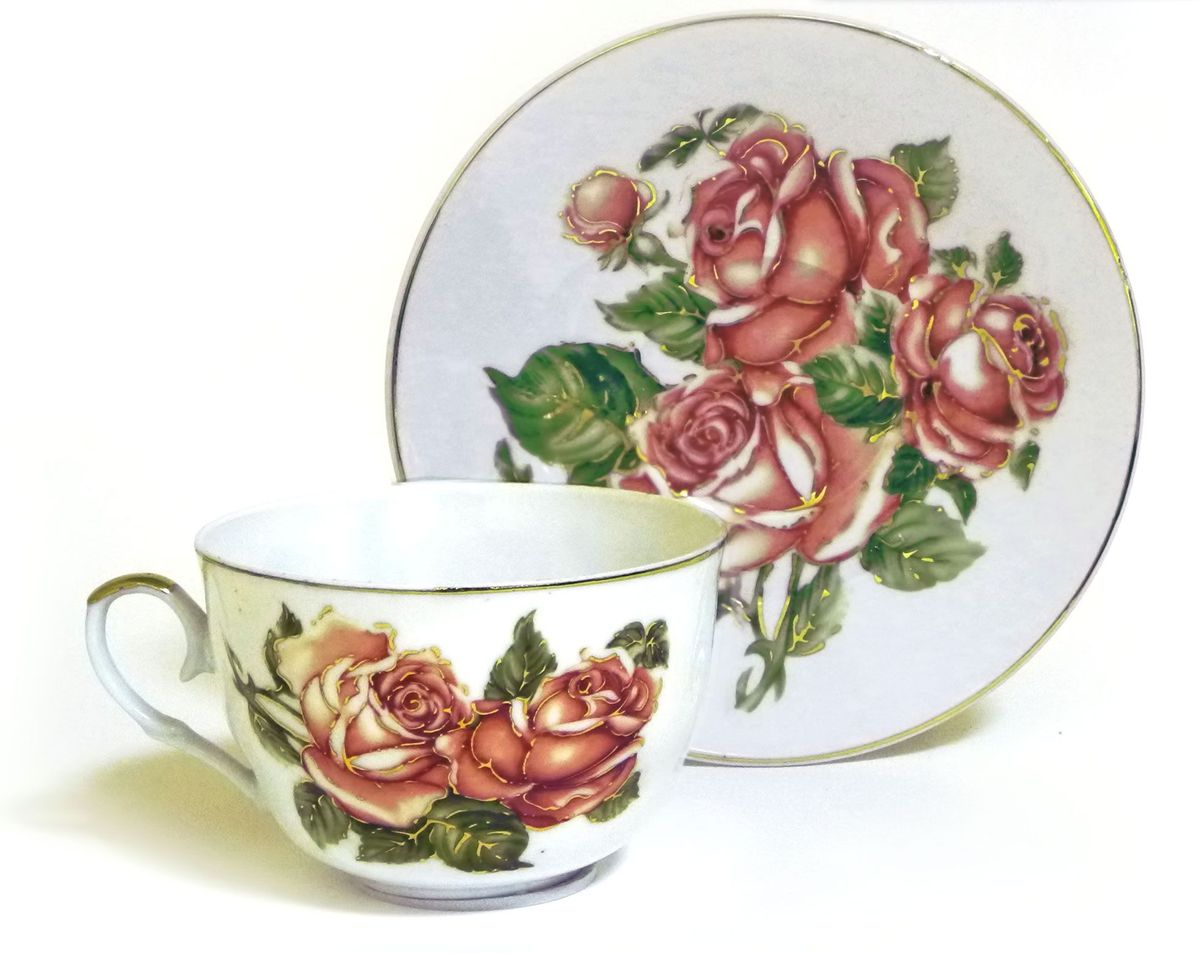Набор чайный Briswild Коралловые розы, 2 предмета545-778Набор чайный Коралловые розы, выполненный из высококачественного фарфора белого цвета.На предметах набора изображены розы. Изящный дизайн оформления придется по вкусу и ценителям классики, и тем, кто предпочитает утонченность и изысканность. Такой набор отлично подойдет для красивой сервировки стола.
