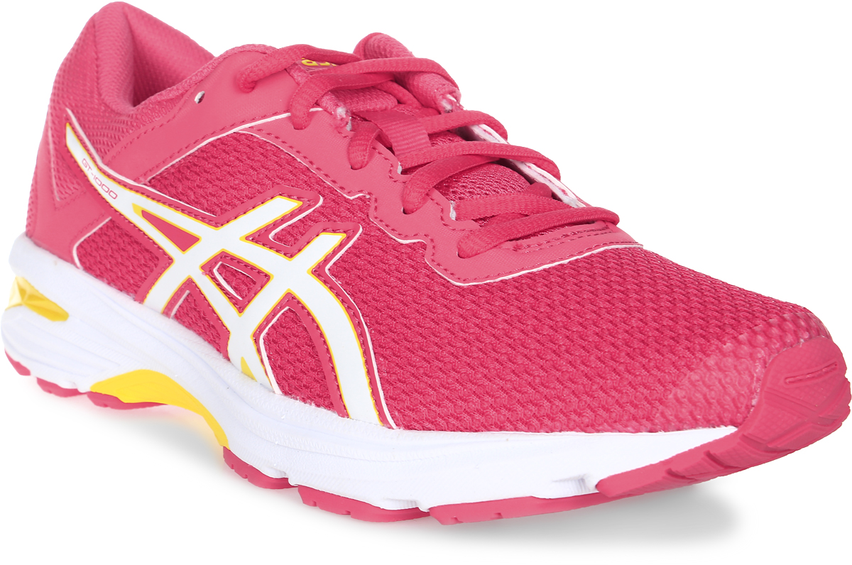 Кроссовки для девочки Asics Gt-1000 6 Gs, цвет: розовый. C740N-1901. Размер 1 (31)C740N-1901Легкие кроссовки для девочки Asics Gt-1000 6 Gs покорят вашего ребенка своим дизайном и функциональностью! Верх кроссовок выполнен из специальной дышащей сетки, которая обеспечивает оптимальный микроклимат внутри обуви. Промежуточная подошва из EVA и вставки Asics Gel в пяточной области обеспечивают превосходную поддержку и предохраняют ноги ребенка от усталости. В модели предусмотрена съемная стелька для простоты ухода и дополнительной амортизации. Светоотражающие элементы обеспечат безопасность в темное время суток.