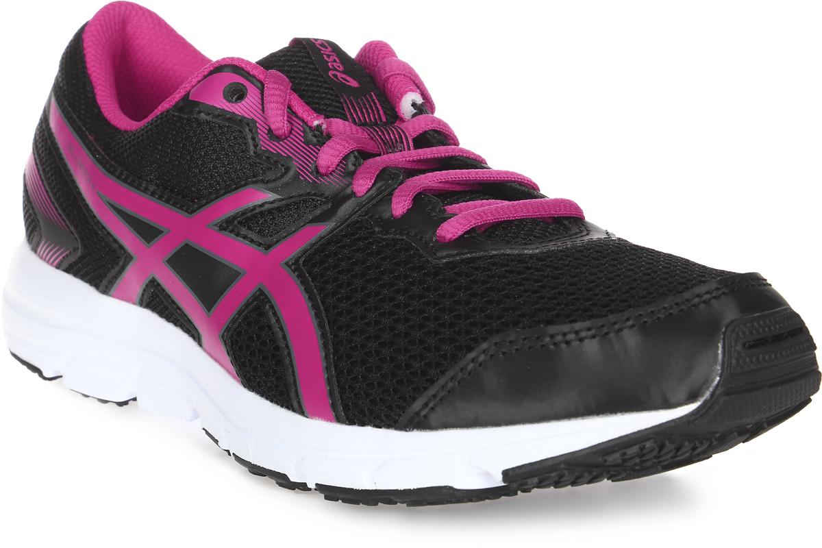 Кроссовки для девочки Asics Gel-Zaraca 5 Gs, цвет: черный, розовый. C635N-9017. Размер 3H (34)C635N-9017Легкие и удобные беговые кроссовки Asics Gel-Zaraca 5 Gs займут достойное место в спортивном гардеробе вашего ребенка. Верх кроссовка выполнен из прочной дышащей сетки Gill Mesh, которая обеспечивает оптимальный микроклимат внутри обуви. Удобная колодка California позволяет создать стабильность и комфорт. Система амортизации Asics Gel в пятке снижает нагрузку на стопу, колени и позвоночник ребенка. Съемные стельки из мягкого ЭВА-материала просты в уходе и при необходимости их можно заменить на ортопедические.