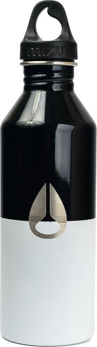 Бутылка для воды Mizu M8, цвет: черный, 800 мл813551021376Бутылка Mizu M8 из пищевой нержавеющей стали подойдет для тех, кто заботится об окружающей среде и своем здоровье. Корпус украшен логотипом NIXON. Ее удобно брать с собой, пригодится в поездке, походе или на рыбалке.Объем: 800 мл. Обхват: 24 см. Диаметр: 7 см. Высота (с крышкой): 26 см.