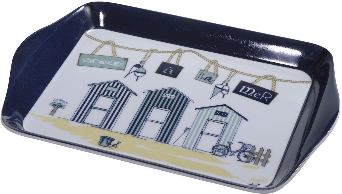 Поднос Efya Deco Cabines, 14 х 21 см017682Поднос Efya Deco Cabines выполнен из пластика и оформлен очаровательным принтом. Интерьер кухни наполнить уютом и теплом помогут французские мелочи, специально для вас собранные в коллекции. Эти милые вещицы разнообразят и украсят обстановку вашей любимой кухни.