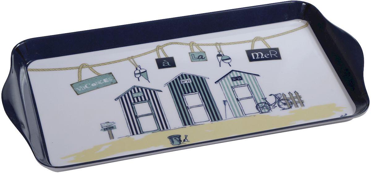 Поднос Efya Deco Cabines, 15 х 30,5 см017694Поднос Efya Deco Cabines выполнен из пластика и оформлен очаровательным принтом. Интерьер кухни наполнить уютом и теплом помогут французские мелочи, специально для вас собранные в коллекции. Эти милые вещицы разнообразят и украсят обстановку вашей любимой кухни.