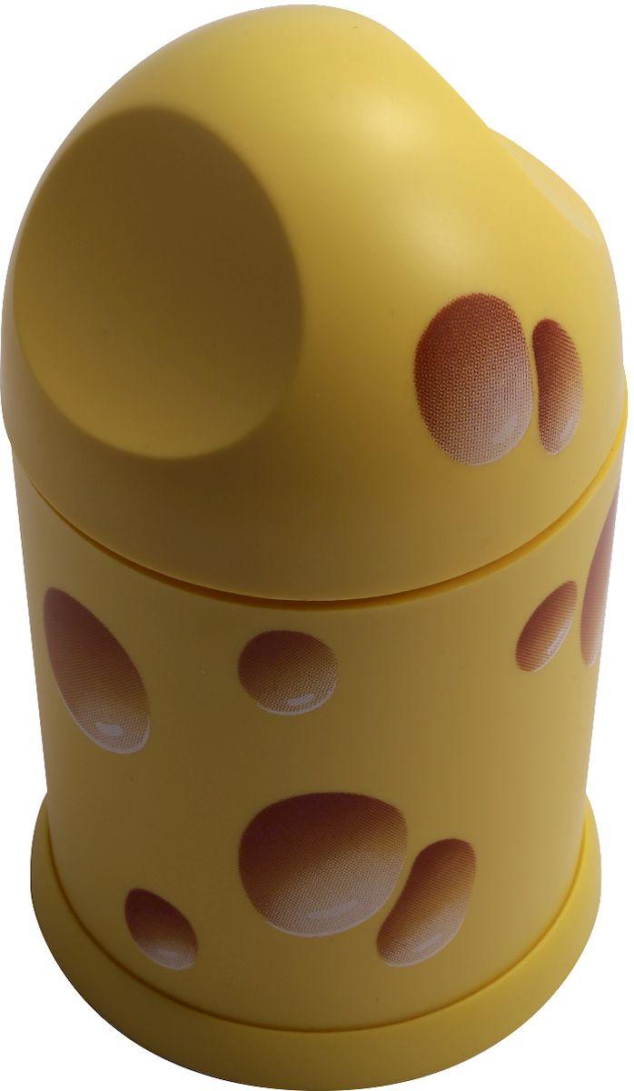 Терка Moha Cheasy, цвет: желтый20026Эта терка идеальна для людей, которые обожают сыр и добавляют его в блюда! Выполнена из нержавеющей стали и пластика. Используется для твердых сыров. С этой теркой вы сможете быстро и легко посыпать яичницу, любой салат, гарнир и даже сладкие блюда. Используйте ее для приготовления пиццы, пасты, бутербродов и для горячих блюд с сырной посыпкой. Это очень удобный и безопасный аксессуар, который можно хранить с сыром в холодильнике. Можно мыть в посудомоечной машине.