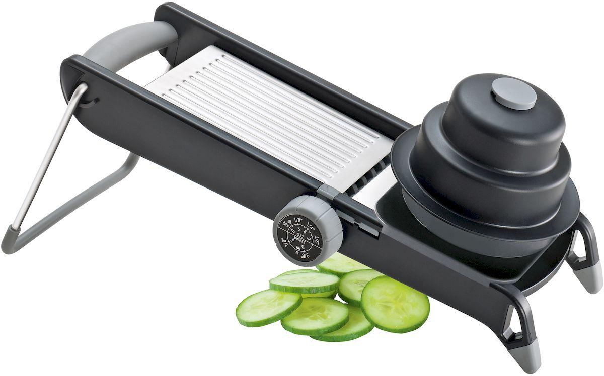 Овощерезка Moha Veggie Pro, цвет: черный25208Корпус выполнен из прочного пластика, ножи из высококачественной нержавеющей стали. Используется для 4 видов натирания овощей. Рекомендуется мыть вручную.