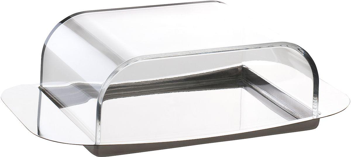 Масленка используется для хранения масла, а так же для красивой сервировки стола. Состоит из подноса и крышки. Крышка прозрачная, выполнена из акрила, а поднос - из высококачественной  нержавеющей стали. Масло долго остается свежим и не впитывает посторонние запахи при  хранении в холодильнике. Можно мыть вручную.