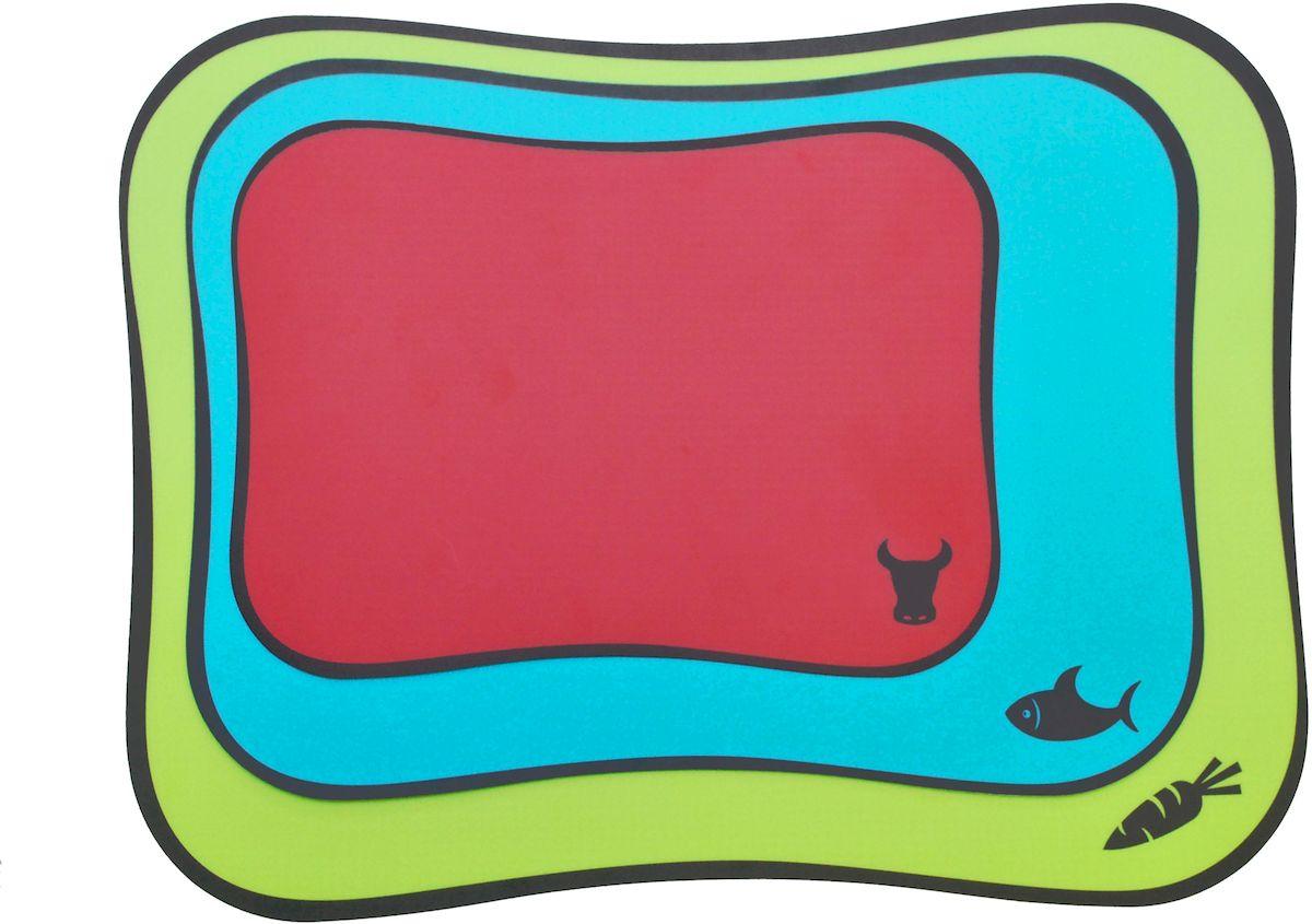 """Набор Moha """"Flex&Colors"""" состоит из 3 пластиковых досок разного размера. Каждая доска предназначена для  определенного типа продуктов: овощей, мяса или рыбы. На красной доске вы разделаете мясо, на голубой - рыбу,  ну а зеленая доска поможет нашинковать овощи.  Размеры: 43 х 33 см (для овощей), 37 х 27 см (для рыбы), 28 х 20 см (для мяса). Можно мыть в посудомоечной машине."""