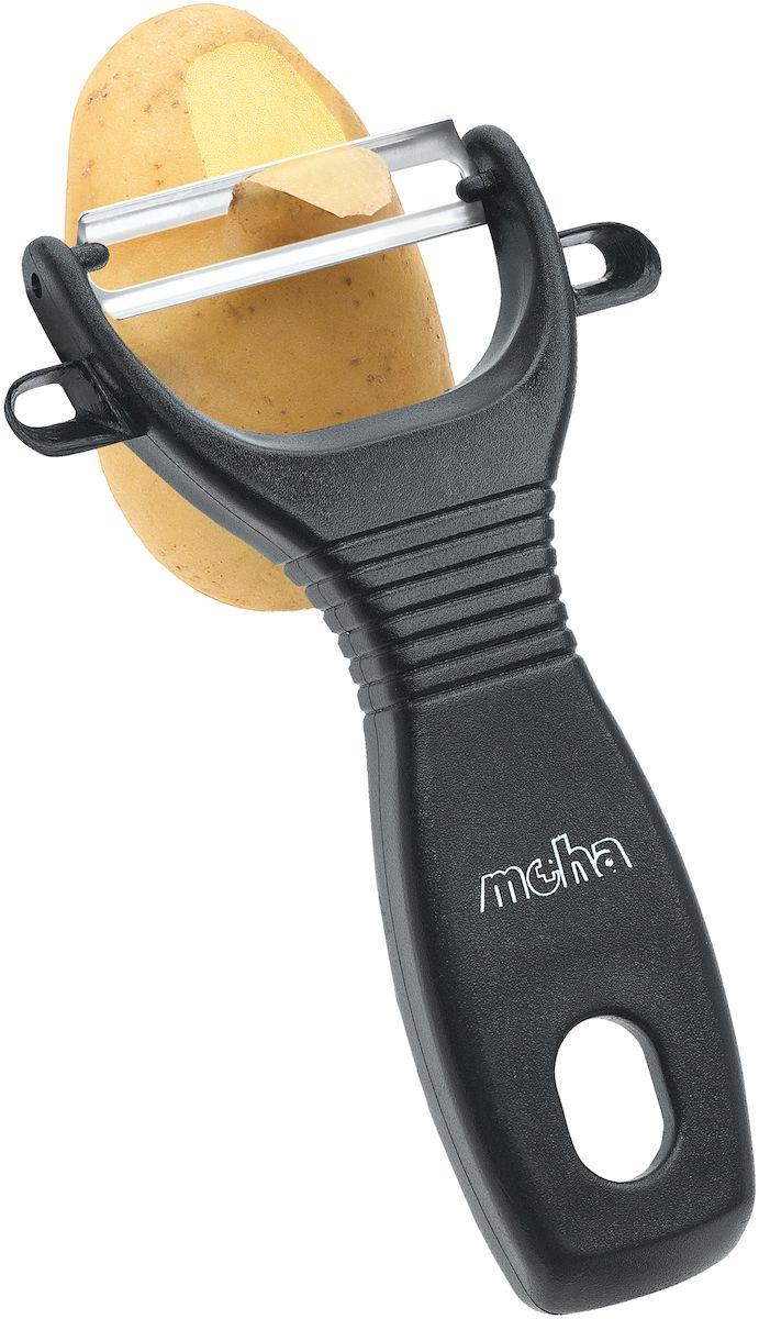 Нож для чистки овощей Moha Pela, цвет: черный45709Нож с зубчатым лезвием идеален для чистки овощей с тонкой кожицей. Эргономичная ручка для удобства работы. Рекомендуется мыть вручную.