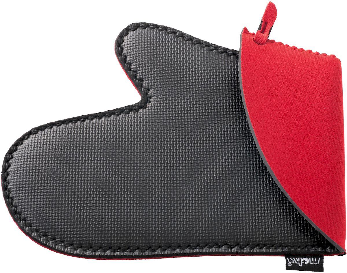 Рукавица защитная Moha Protector, цвет: черный, красный81514Защитная рукавица из неопрена выдерживает температуру до 220 °C, водоотталкивающая и противоскользящая для лучшего управления.