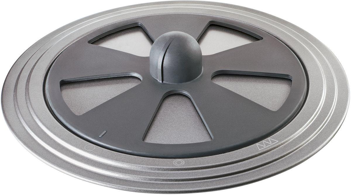 Крышка-защита от брызг Moha  Grill&Cook , мультифункциональная, цвет: темно-серый, диаметр 30 cм - Посуда для приготовления
