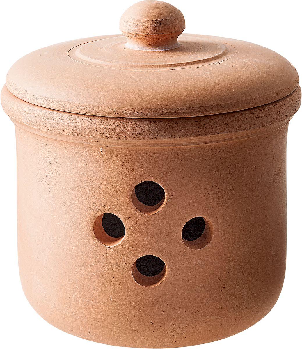 Емкость для лука Moha Cipo, цвет: коричневый, диаметр 14 см83510Емкость для лука Moha Cipo выполнена из керамики. За счет уникальных свойств глины в керамической посуде очень хорошо хранить лук, чеснок и корнеплоды. Отверстия в стенках банки обеспечивают приток воздуха, чтобы овощи как можно дольше оставались свежими. Эстетичный внешний вид позволяет использовать в качестве декора кухни и поставить на видное место.
