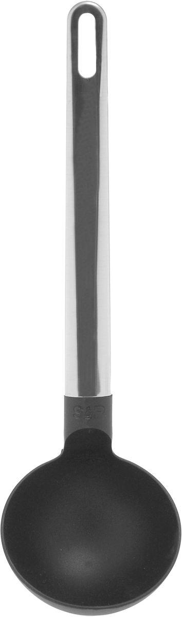 Половник Salt&Pepper Tools, цвет: черныйBAM37886Кухонные принадлежности, поварские инструменты - необходимые помощники для облегчения жизни на кухне. Эта коллекция содержит все необходимые инструменты. Эффективные кухонные аксессуары выполнены в классическом черном цвете и из нержавеющей стали.