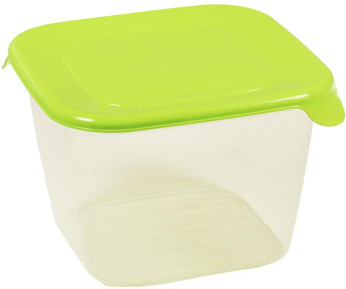 Емкость для продуктов Idea Практик, квадратная, цвет: прозрачный, салатовый, 1,5 лМ 1463Прямоугольная емкость для продуктов Idea Практик изготовлена из пищевого полипропилена. Крышка плотно закрывается, дольше сохраняя продукты свежими. Боковые стенки прозрачные, что позволяет видеть содержимое. Емкость идеально подходит для продуктов, полуфабрикатов и готовых блюд. Такая емкость пригодится в любом хозяйстве.На крышке имеются два клапана для удобства открывания. Контейнеры можно ставить друг на друга, экономив место на полке. Можно мыть в посудомоечной машине и использовать в микроволновой печи.
