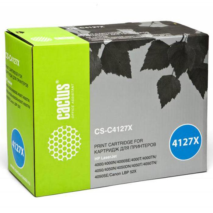 Cactus CS-C4127X, Black тонер-картридж для HP LJ 4000/4050 картридж cactus cs ce313a purple для hp lj cp1012pro cp1025