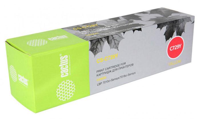 Cactus CS-C729Y, Yellow тонер-картридж для Canon i-Sensys LBP-7010C/ LBP-7018C lbp 7018c canon