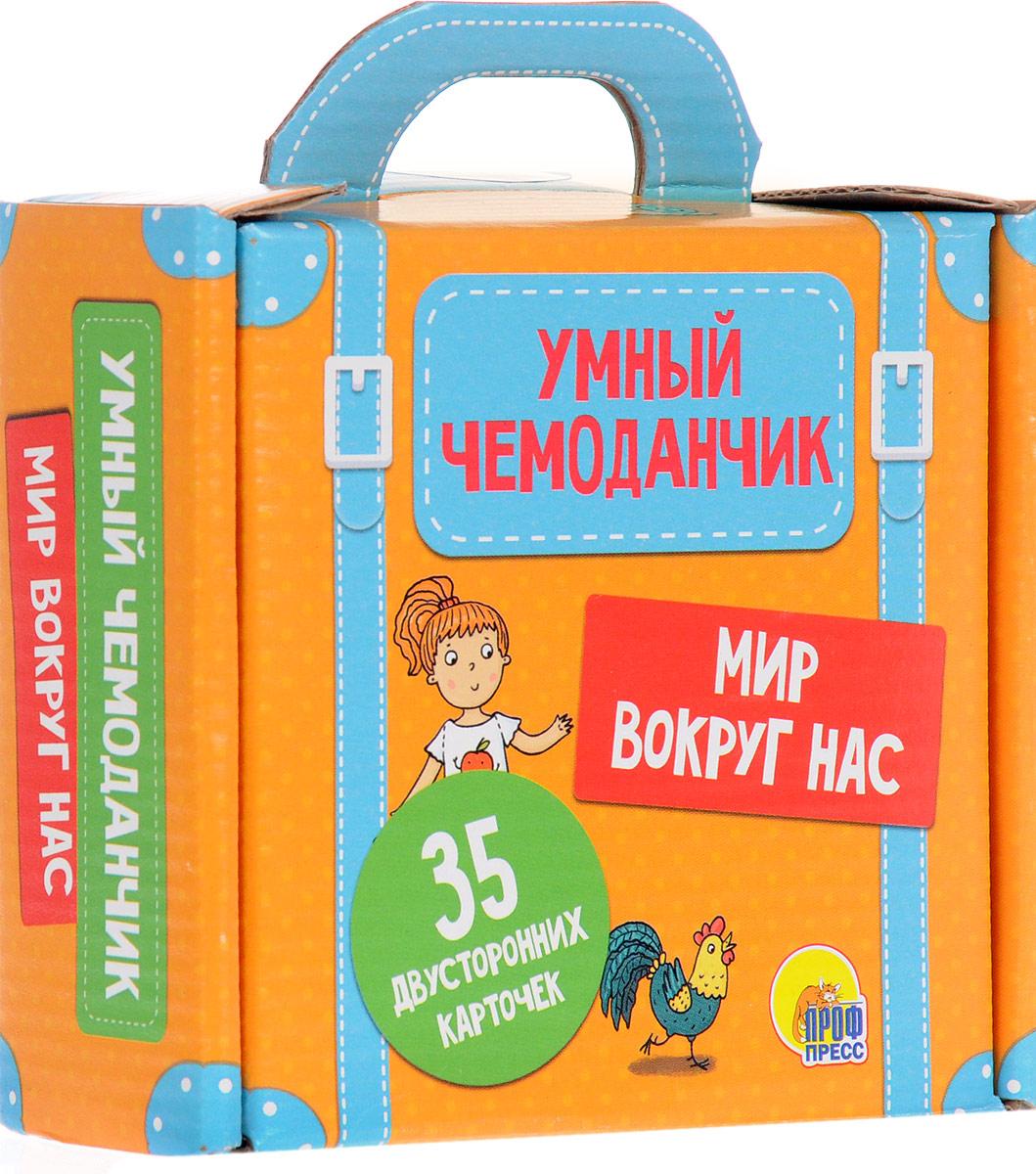 Проф-пресс Обучающие карточки Умный чемоданчик Мир вокруг нас улыбка обучающие карточки одежда